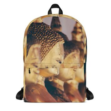 Golden Buddha Statues Backpack