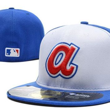 PEAPON Los Angeles Angels of Anaheim New Era 59FIFTY MLB Cap Blue-White