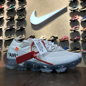 OFF WHITE x Nike Air VaporMax 2018 White AA3831-000 Sport Running Shoes