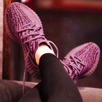 Adidas Women Men Yeezy 550 Boost 350 V2  Fashion Girl Boy Trewnding Personality Leisure Sport Running Shoe Sneakers Purple