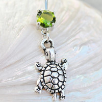 Tiny Turtle Dangle Belly Ring