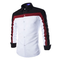 Men's Long Sleeve Cotton Shirts Casual Brand
