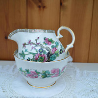 Indian Tree bone china creamer and sugar bowl/Duchess china/excellent condition /ships worldwide from UK
