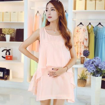 new summer maternity dresses chiffon women's dresses pregnancy dresses maternity clothing summer clothing 16618