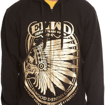 Chief Rocka Zip Up Hoodie Black