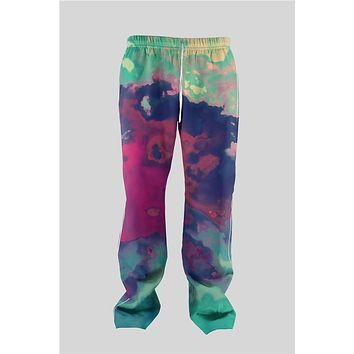 Real American Size 2017 New fashion jogger tupac,Splatter,TrippyRihanna 3D Sublimation Print OEM Men' s String Jogger