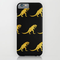 Golden T.Rex Pattern iPhone & iPod Case by Chobopop