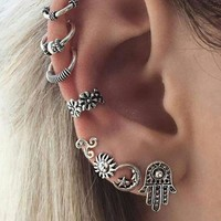 8 Pcs/set Fashion simple Bohemia style earrings 171120