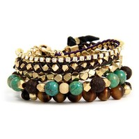 Bohemian with a Touch of Sparkle Bracelet Stack
