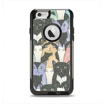 The Vintage Cat portrait Apple iPhone 6 Otterbox Commuter Case Skin Set