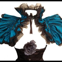 Burlesque Steampunk Silk Shrug Victoriana by lovechildboudoir