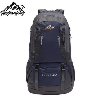 Brand 60L Outdoor Hiking Bag Camping Travel Waterproof Mountaineering Backpack