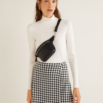Check wrap skirt - Women | MANGO United Kingdom