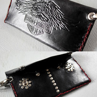 Custom Leather Long 'Biker' Style Wallet