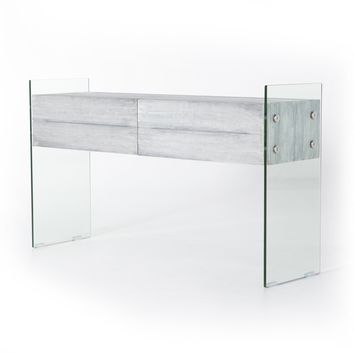 CHICAGO CONSOLE TABLE - PALE GREY