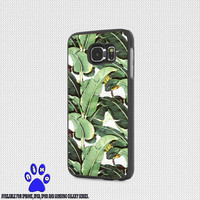 Cute Tropical Banana Leaf Pattern for iphone 4/4s/5/5s/5c/6/6+, Samsung S3/S4/S5/S6, iPad 2/3/4/Air/Mini, iPod 4/5, Samsung Note 3/4 Case * NP*