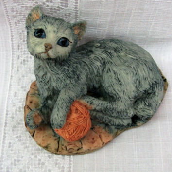 Hand Made Cat Figurine |  Border Fine Arts | Dumfriesshire Scotland