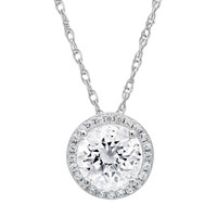 Sterling Silver Halo Pendant made with Swarovski Crystals
