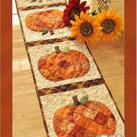 Pattern Patchwork Pumpkin Table Runner, Craft Pattern