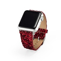 Apple Watch Band Luxury Sparkle Glitter Bling Leather Band