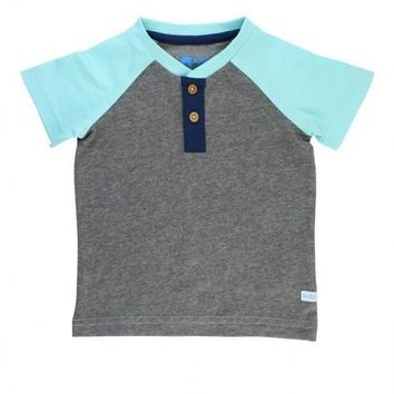 Rugged Butts Gray Seafoam Henley Shirt