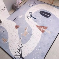 150X190CM Crystal Cashmere Carpets For Living Room Cartoon Children Bedroom Rugs And Carpets Coffee Table Area Rug Kids Play Mat