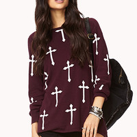 High-Low Cross Sweater