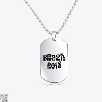 Brazil 2018, Fifa World Cup Tag Necklace