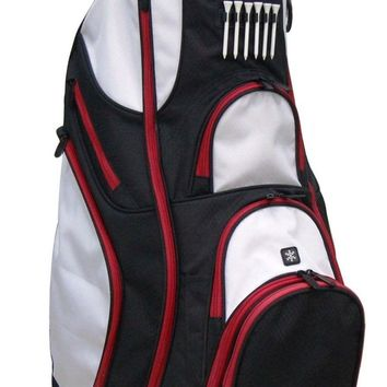 "New RJ Sports 9.5"" Deluxe Golf Cart Bag - Black/White OX-820"