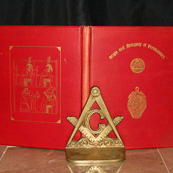 Origin & Antiquity of Freemasonry 1898 First ed. - Egyptian Book of the Dead - Sacred Symbolism / Mystery Schools - Owned by Civil War Capt.