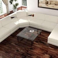Fashionable Leather Sectional - Opulentitems.com