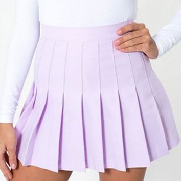 women skirts fashion cute elegant high waist ladies pleated skirt faldas saia Apparel  K