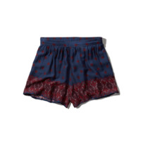 Drapey Pattern Shorts