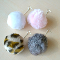 Pompom Earrings (Large)