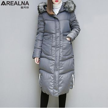 New Winter Coat Women 2017 Thick Warm lomg Winter Jackets Female Fur Collar Hooded Parka Plus Size 5XL Outerwear chaqueta mujer