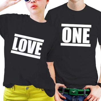 NSC-One Love Cute Matching Couple Couples Matching Shirts, Couples T Shirts, Funny Couple Shirts