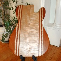 Luthier Made Chambered Exotic Wood Guitar Body