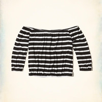 Girls Stripe Off-The-Shoulder Top | Girls Tops | HollisterCo.com