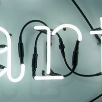 Neon Art wall lamp / Composition 3 letters ART