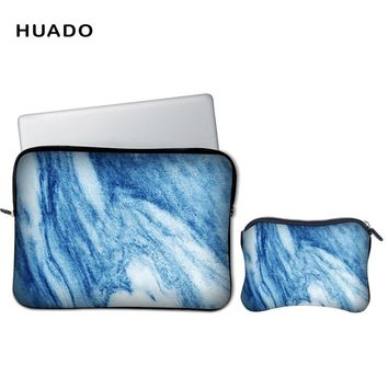 Marble Laptop sleeve 15.6 13.3 bag tablet case Notebook Protective cover for xiaomi air 13/hp/dell/lenovo/asus
