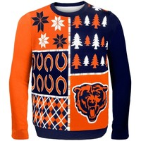 Chicago Bears Navy Blue Busy Block Ugly Sweater