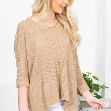 Forever Dolman Knit Sweater | Taupe