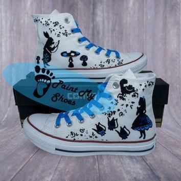 alice in wonderland converse cartoon shoes free shipping in the us
