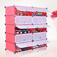 DIY 10 PC Eco Friendly Easy Assembly Shoe Organizer Wardrobe