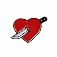 Knife Heart Lapel Pin