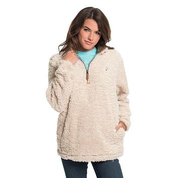 Sherpa Pullover with Pockets in Oyster Gray by The Southern Shirt Co. - FINAL SALE