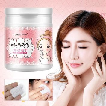 100 Sheets Quick makeup remover wet wipes face eye deep cleansing cotton pads moisturizing cosmetic removal wipes RP2