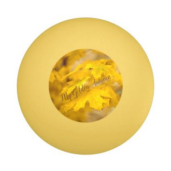 Yellow autumn maple leaves. Add text. Ping-Pong Ball