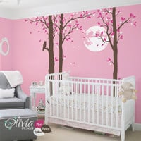 Large tree vinyl wall decal