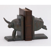 Benzara Attractive Turtle Bookend Pair